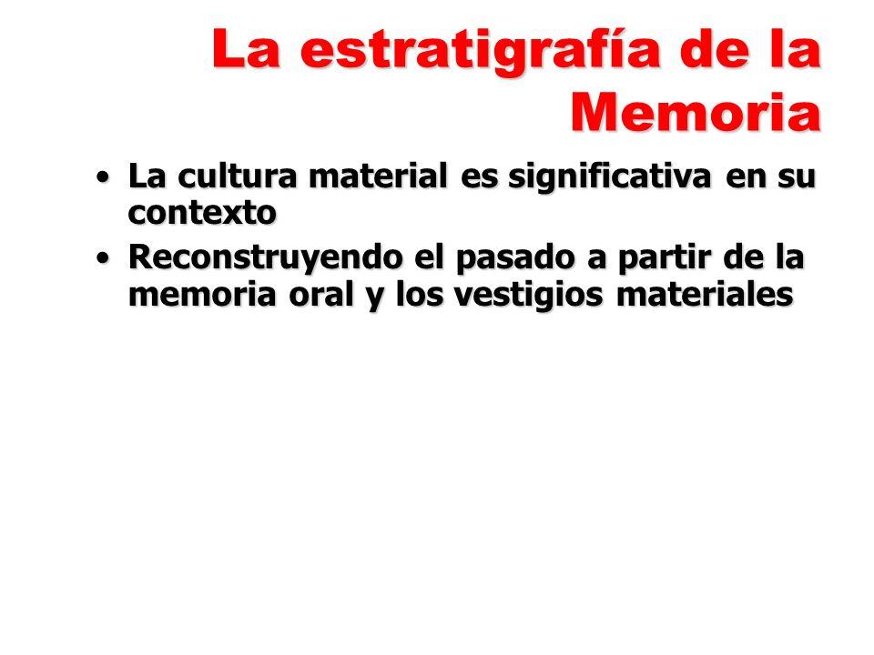 La estratigrafía de la Memoria