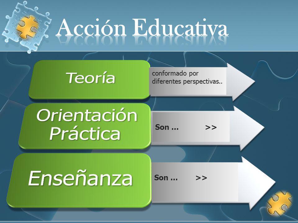 Acción Educativa Teoría Orientación Práctica Enseñanza Son … >>