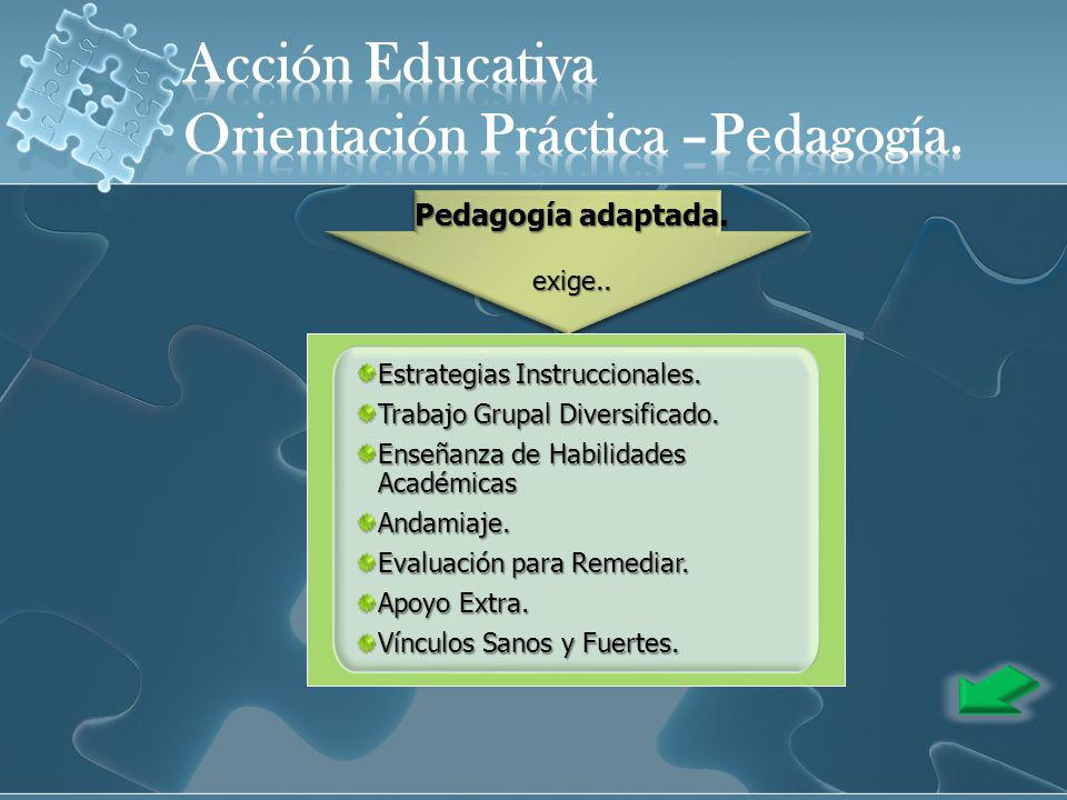 Orientación Práctica –Pedagogía.