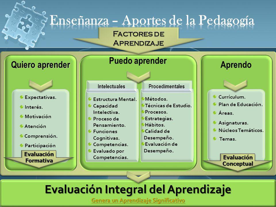 Enseñanza – Aportes de la Pedagogía