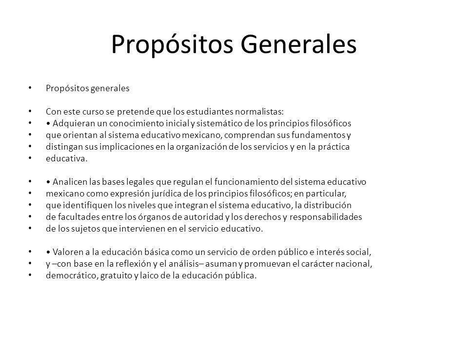 Propósitos Generales Propósitos generales