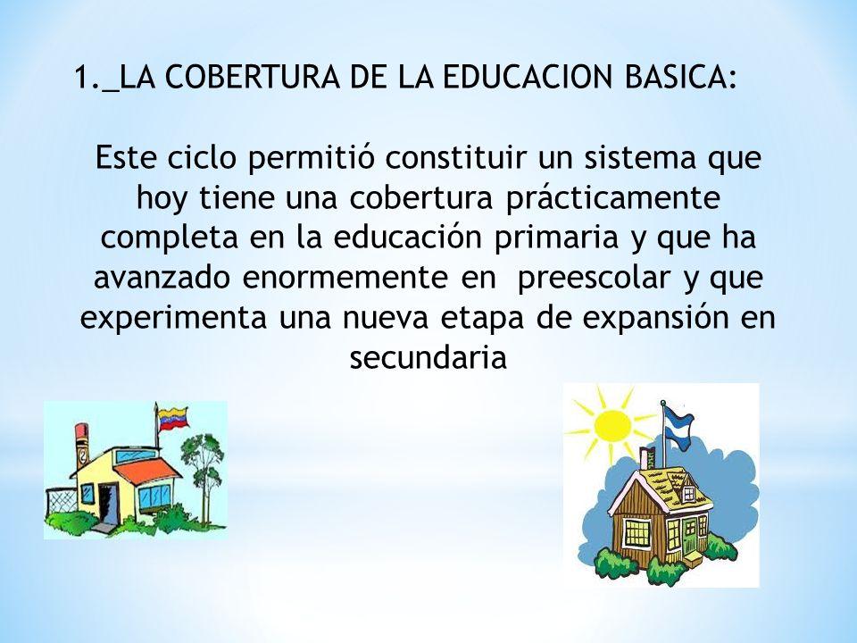 1._LA COBERTURA DE LA EDUCACION BASICA: