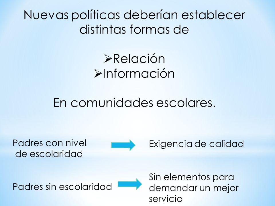 Nuevas políticas deberían establecer distintas formas de