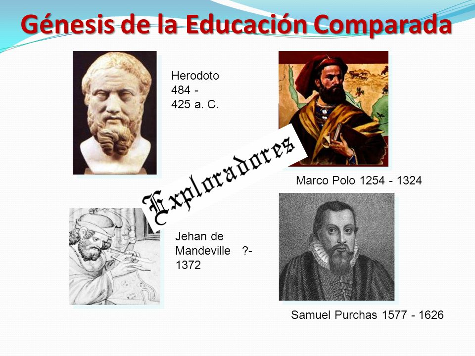 Génesis de la Educación Comparada