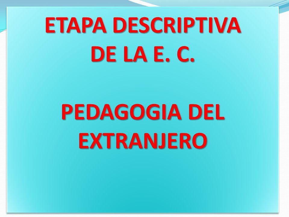 PEDAGOGIA DEL EXTRANJERO