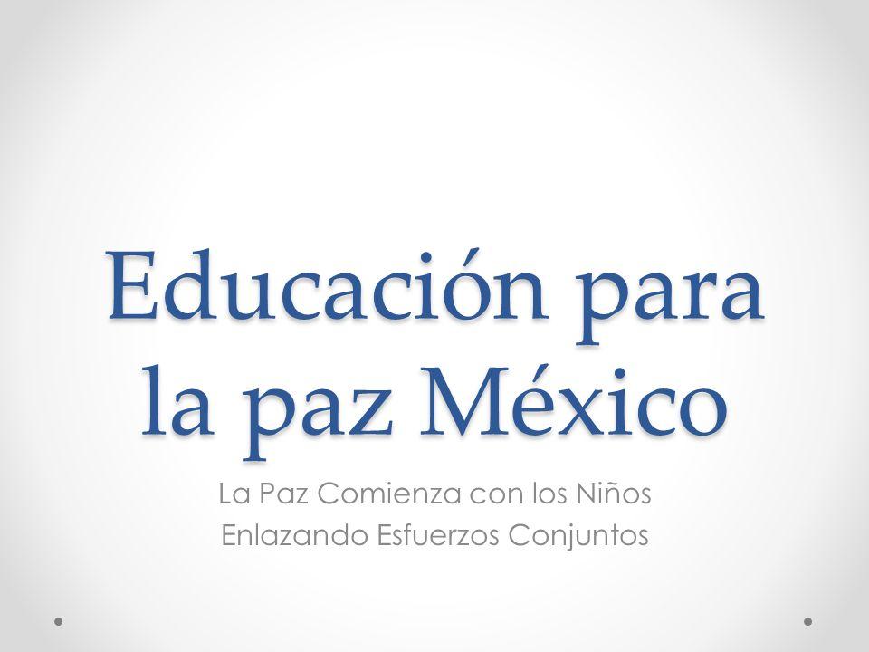 Educación para la paz México