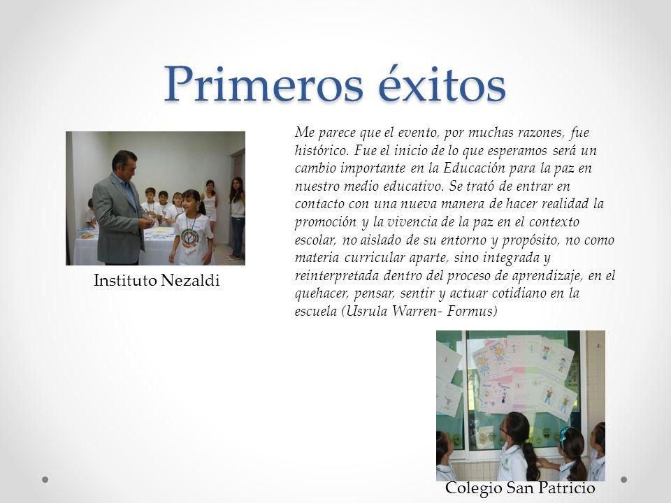 Primeros éxitos Instituto Nezaldi Colegio San Patricio