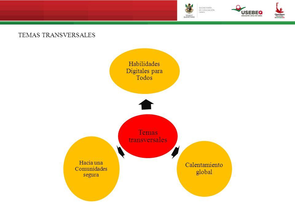 Temas transversales TEMAS TRANSVERSALES Hacia una Comunidades segura