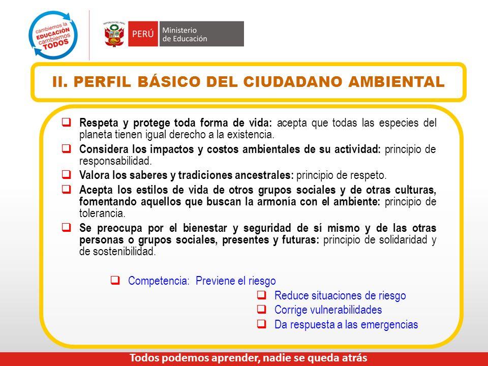 II. PERFIL BÁSICO DEL CIUDADANO AMBIENTAL