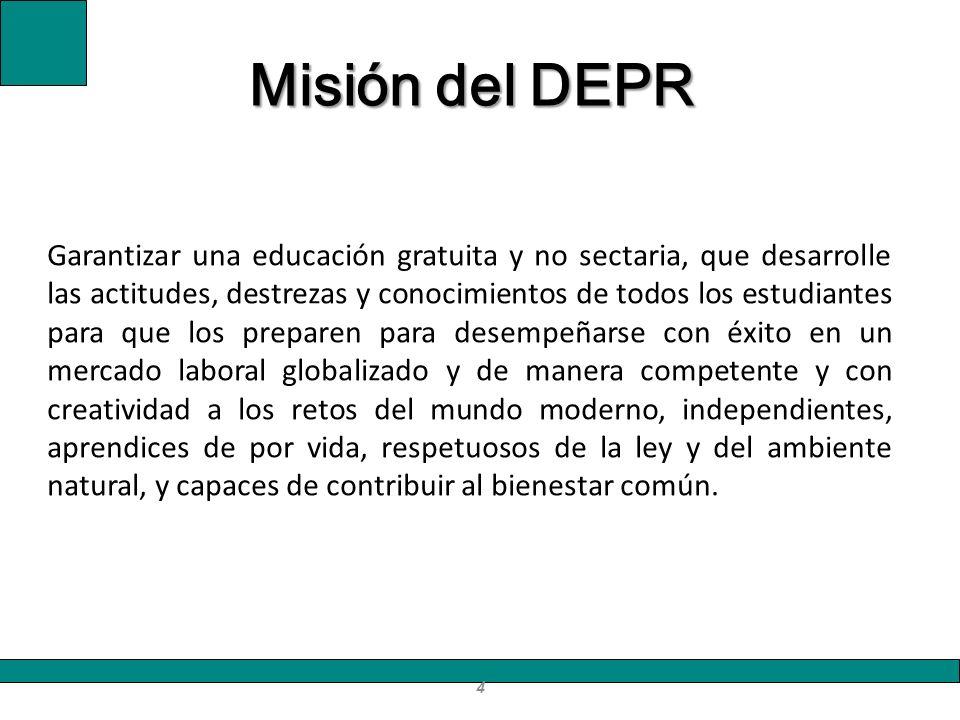 Misión del DEPR
