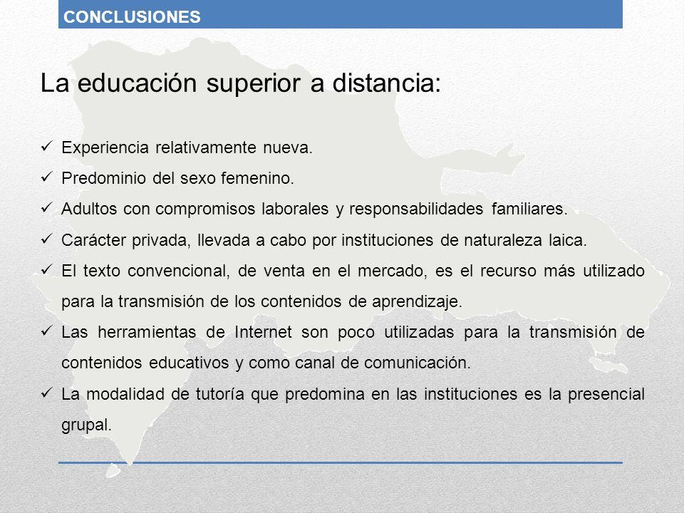 La educación superior a distancia: