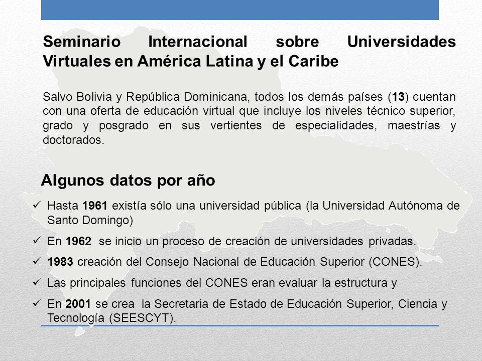 Seminario Internacional sobre Universidades Virtuales en América Latina y el Caribe