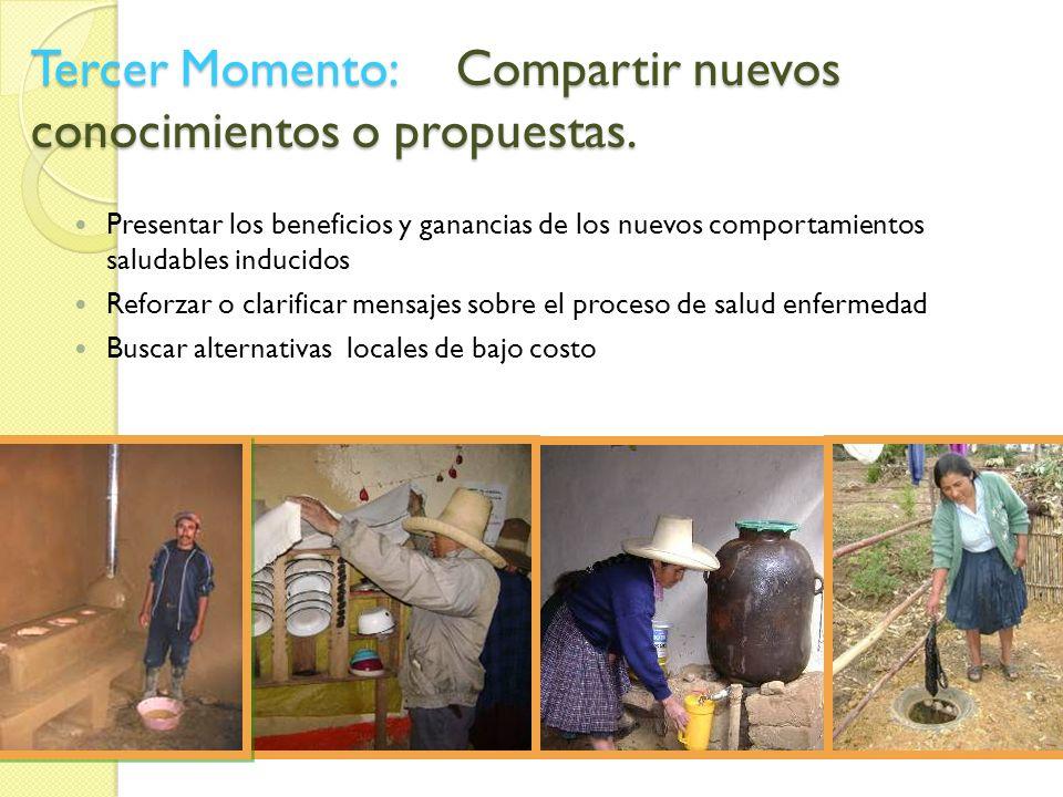 Tercer Momento: Compartir nuevos conocimientos o propuestas.