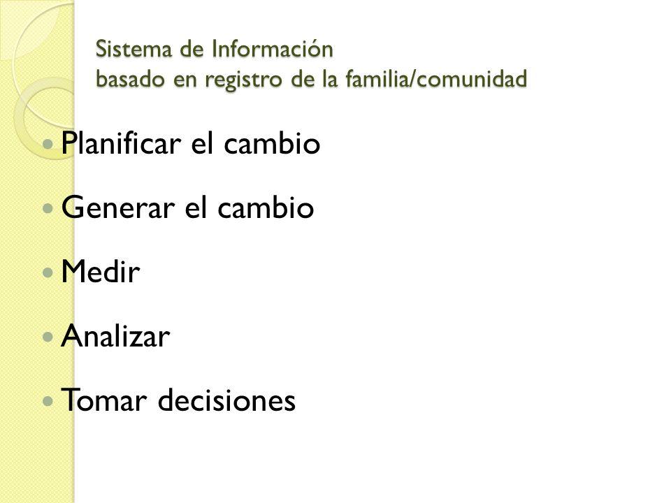 Sistema de Información basado en registro de la familia/comunidad