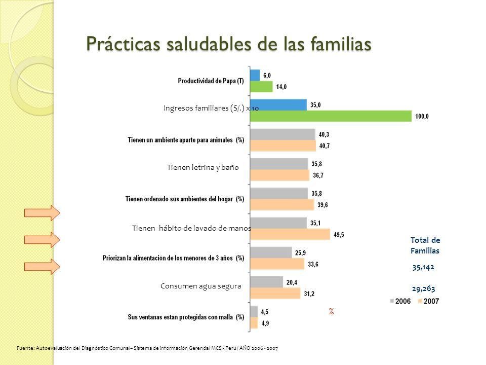 Prácticas saludables de las familias