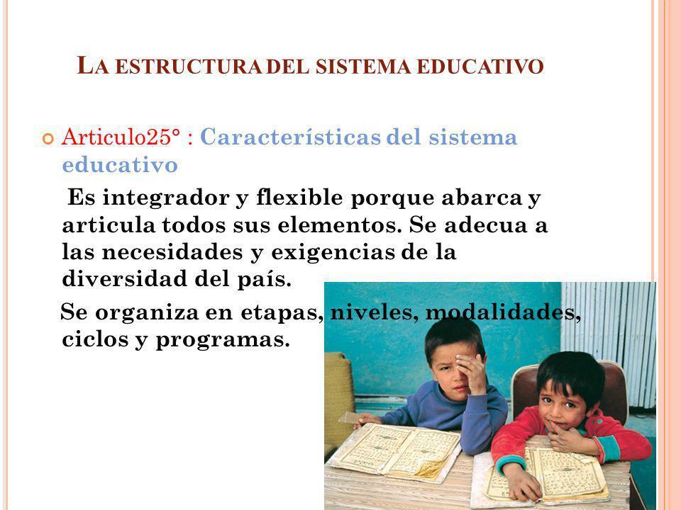 La estructura del sistema educativo
