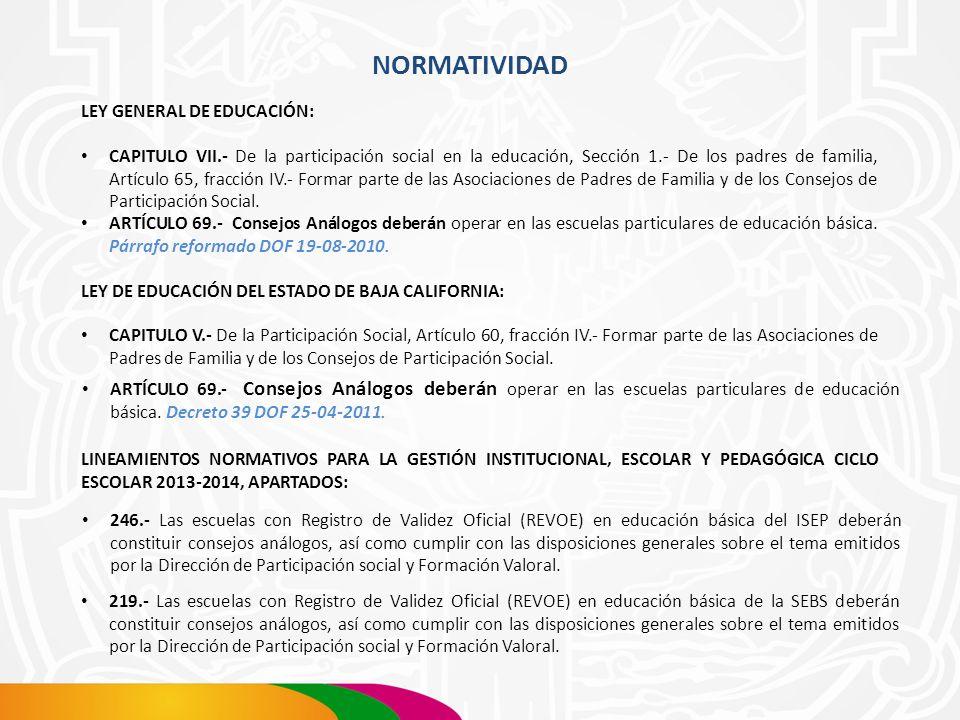 NORMATIVIDAD LEY GENERAL DE EDUCACIÓN: