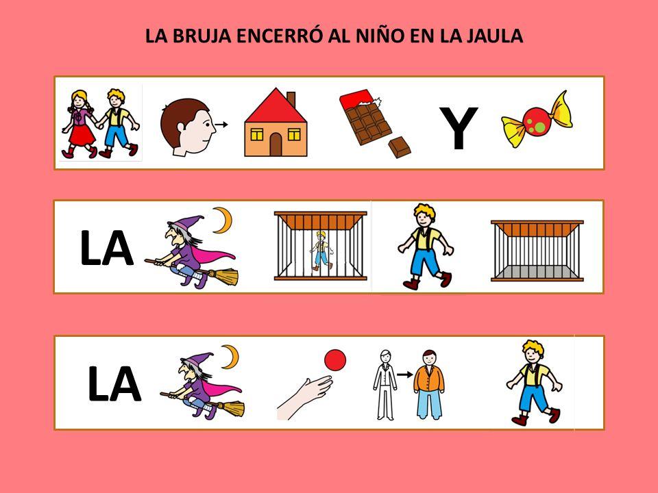 LA BRUJA ENCERRÓ AL NIÑO EN LA JAULA