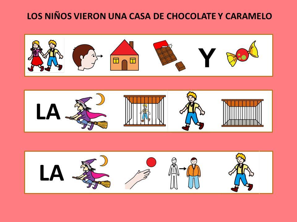 LOS NIÑOS VIERON UNA CASA DE CHOCOLATE Y CARAMELO