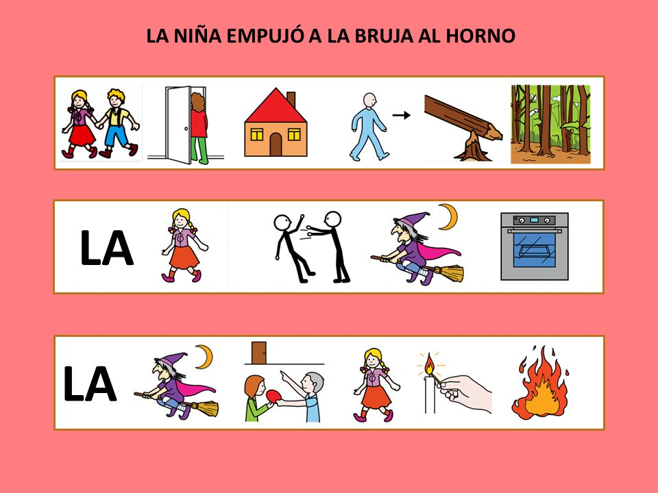 LA NIÑA EMPUJÓ A LA BRUJA AL HORNO