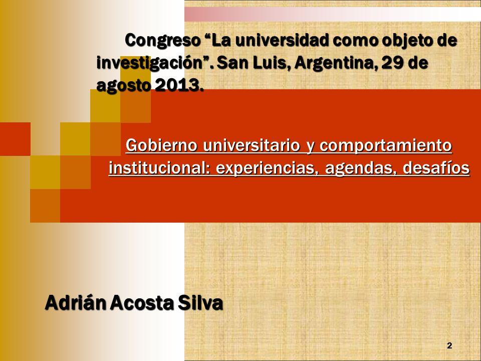 Congreso La universidad como objeto de investigación