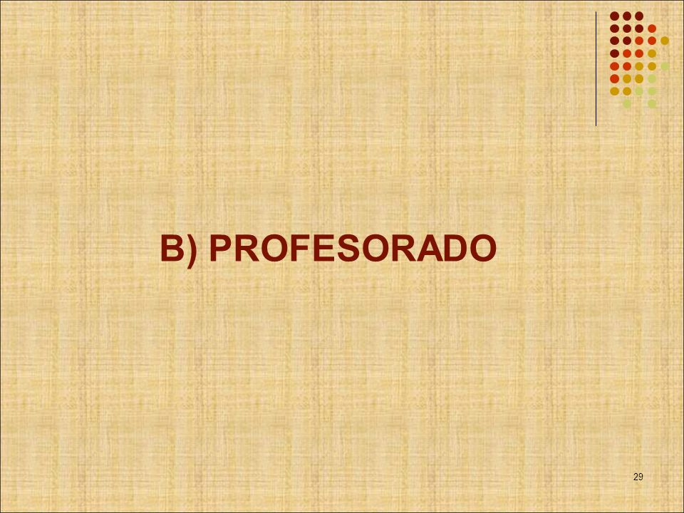 B) PROFESORADO