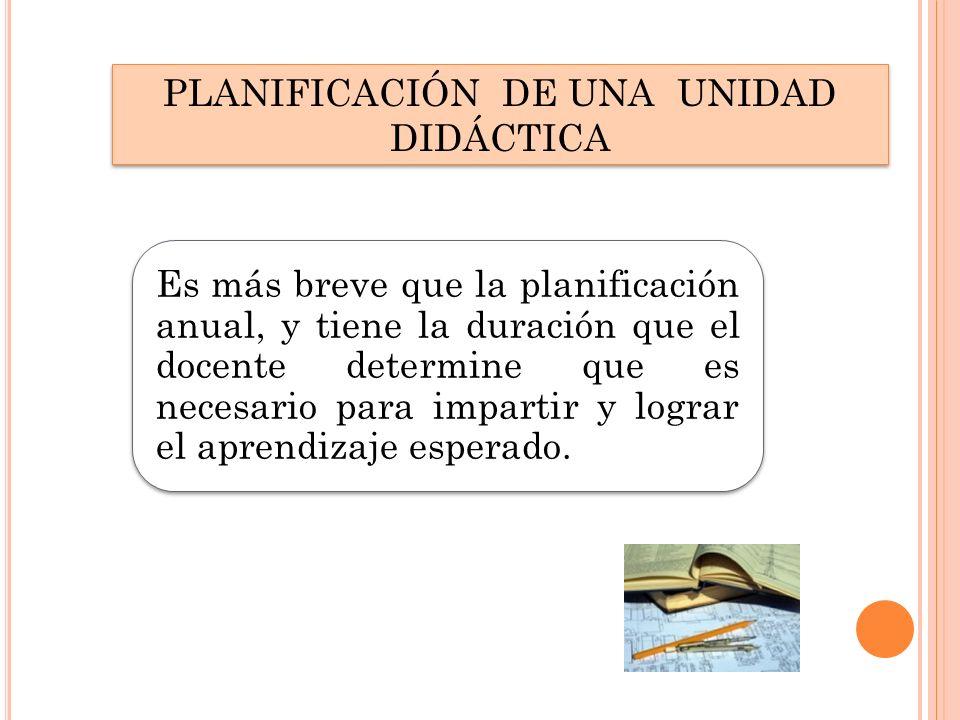 PLANIFICACIÓN DE UNA UNIDAD DIDÁCTICA
