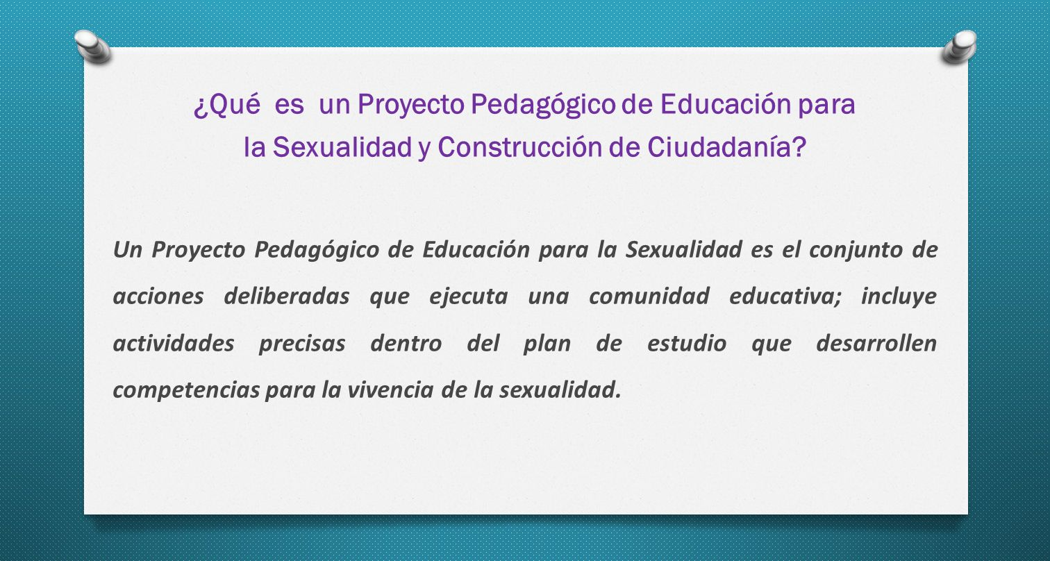 ¿Qué es un Proyecto Pedagógico de Educación para