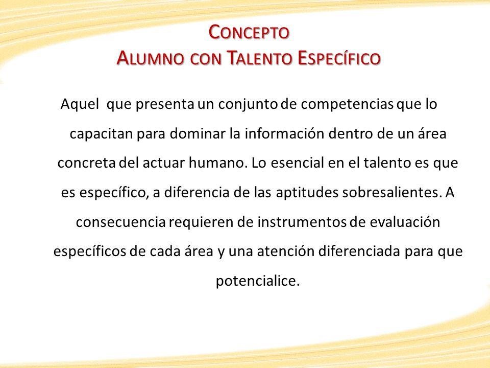 Concepto Alumno con Talento Específico