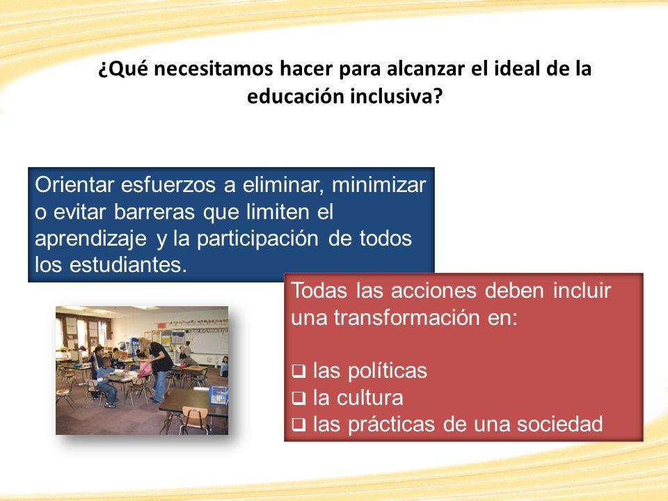 ¿Qué necesitamos hacer para alcanzar el ideal de la educación inclusiva