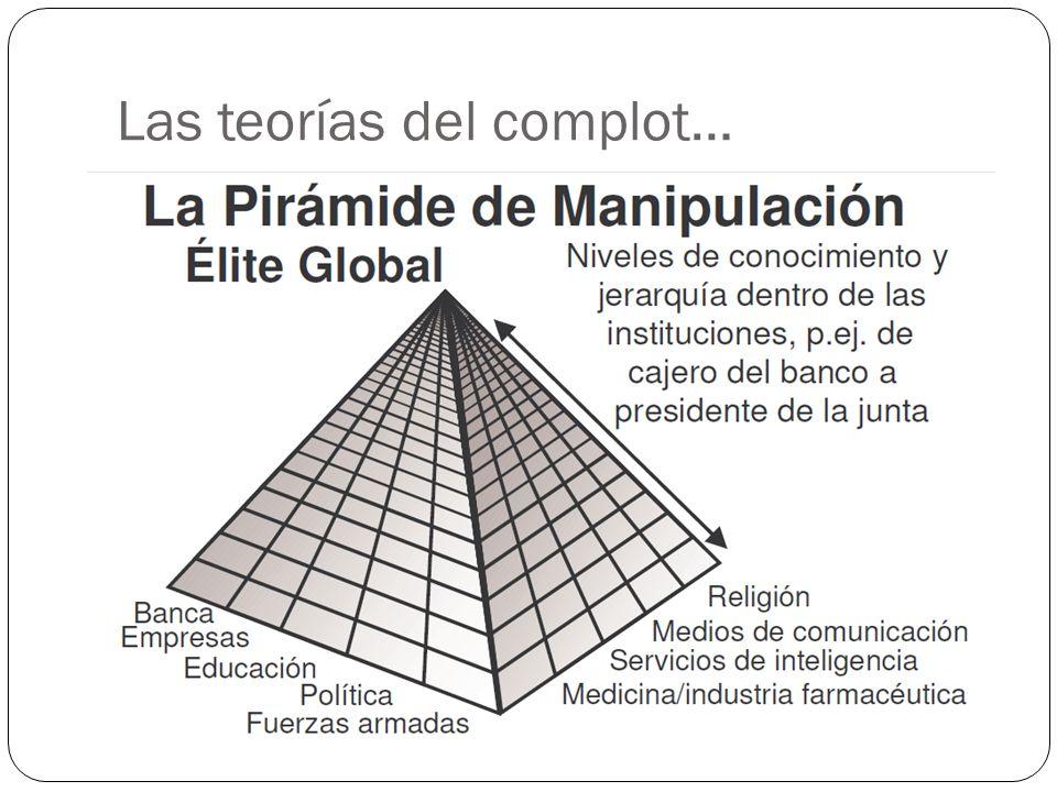Las teorías del complot…