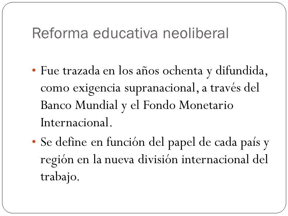 Reforma educativa neoliberal