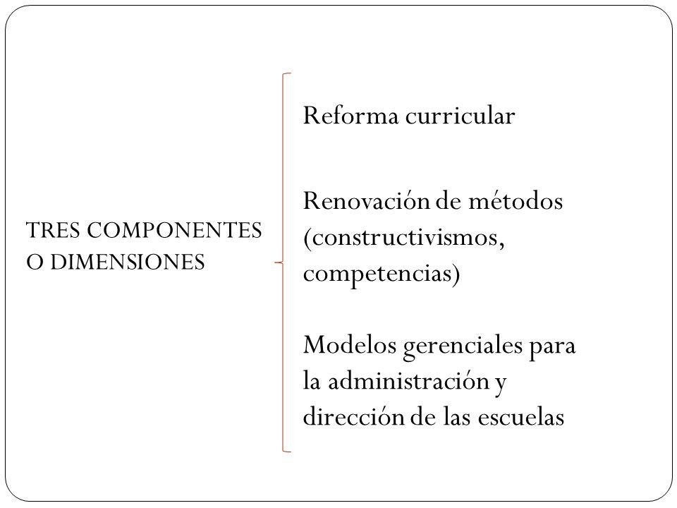 Renovación de métodos (constructivismos, competencias)