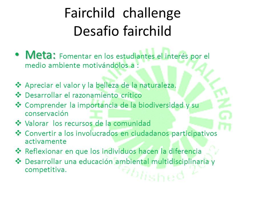 Fairchild challenge Desafio fairchild
