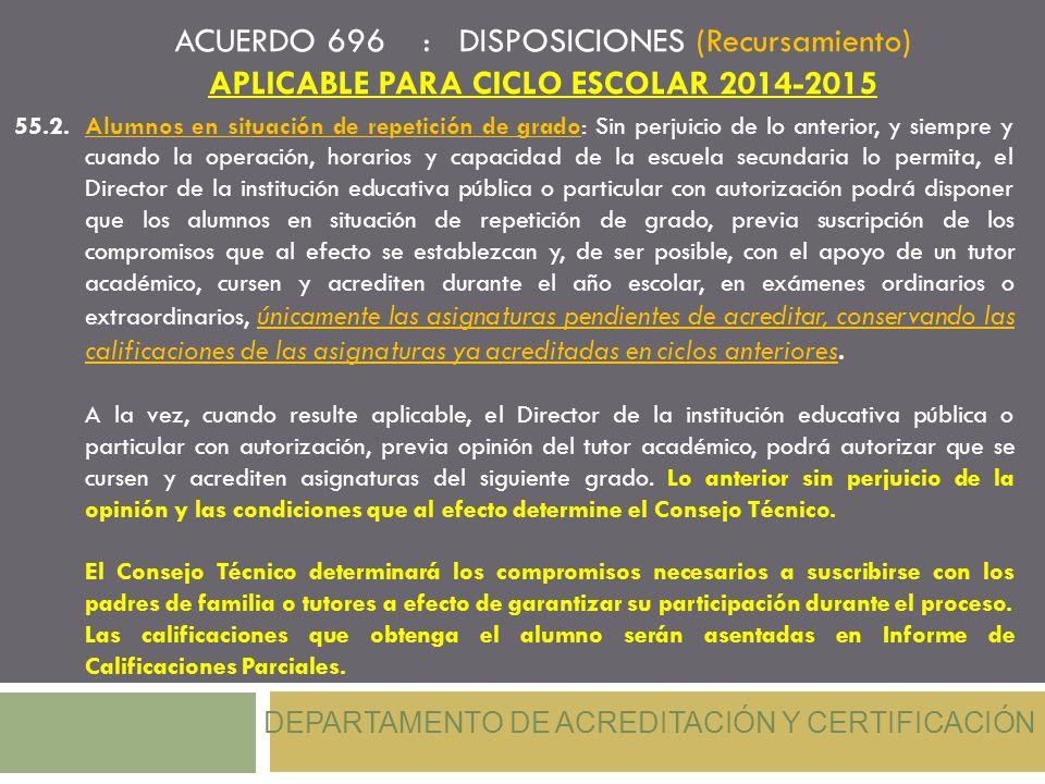 APLICABLE PARA CICLO ESCOLAR 2014-2015
