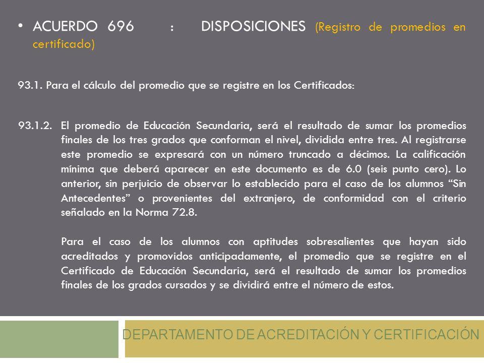 DEPARTAMENTO DE ACREDITACIÓN Y CERTIFICACIÓN