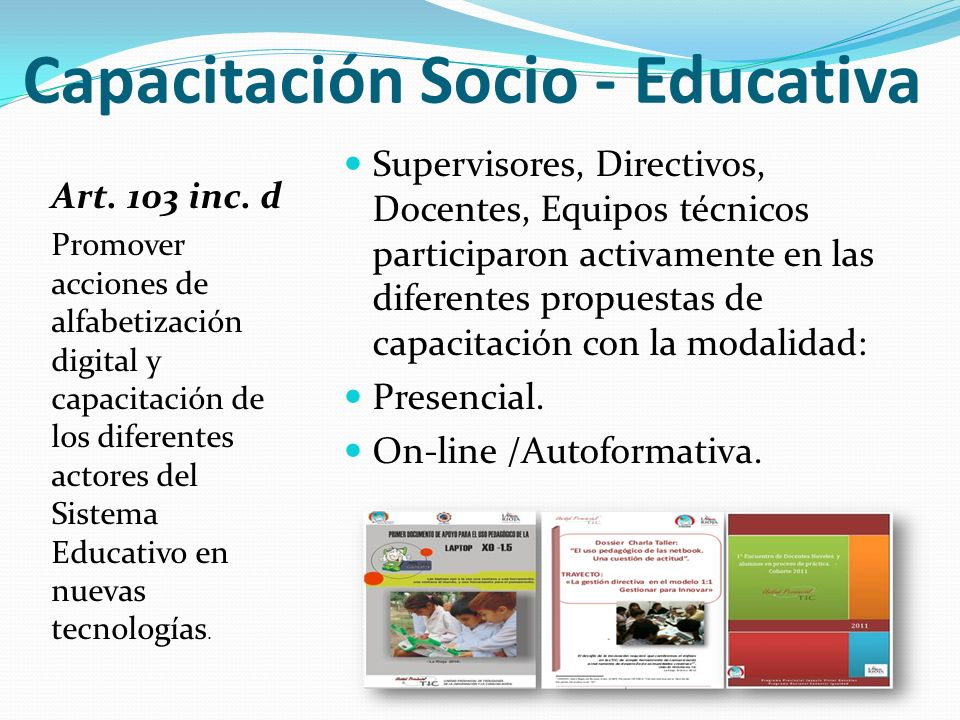 Capacitación Socio - Educativa