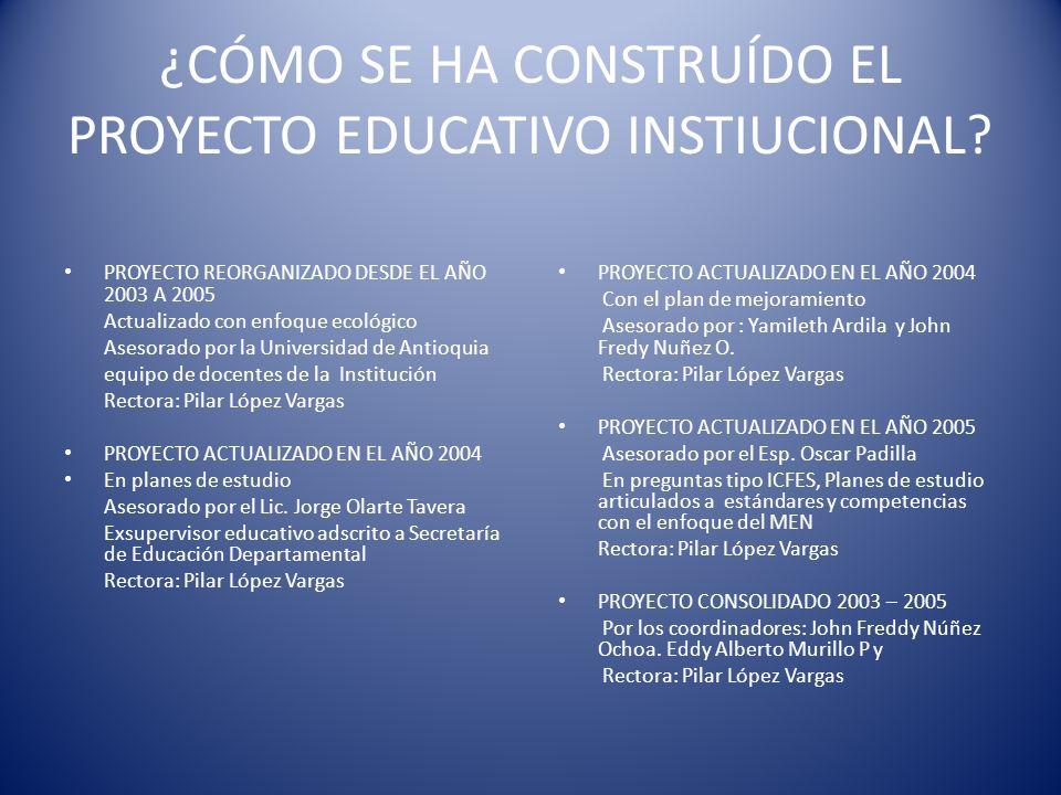 ¿CÓMO SE HA CONSTRUÍDO EL PROYECTO EDUCATIVO INSTIUCIONAL