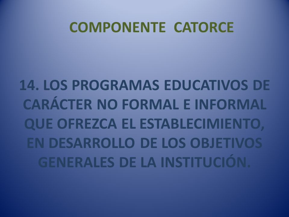 COMPONENTE CATORCE 14.