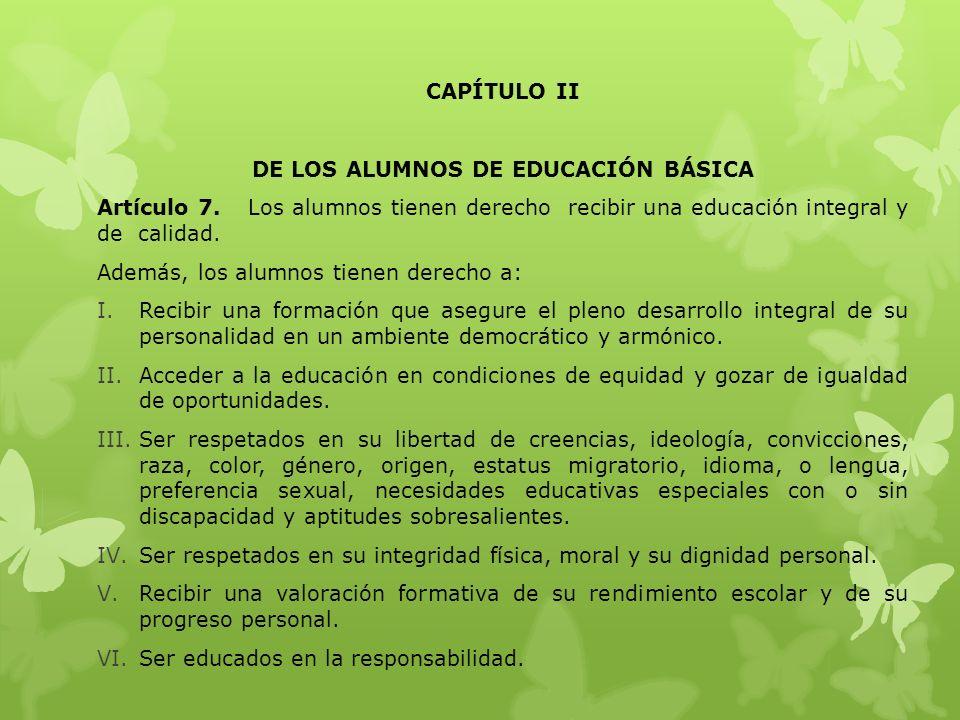 DE LOS ALUMNOS DE EDUCACIÓN BÁSICA