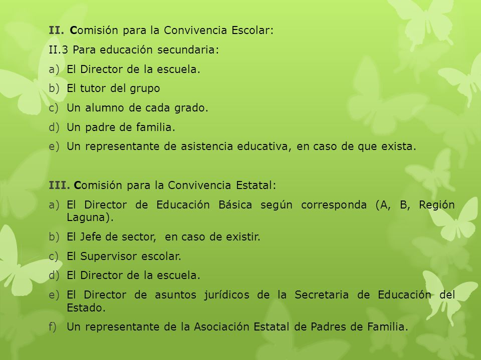 Comisión para la Convivencia Escolar: