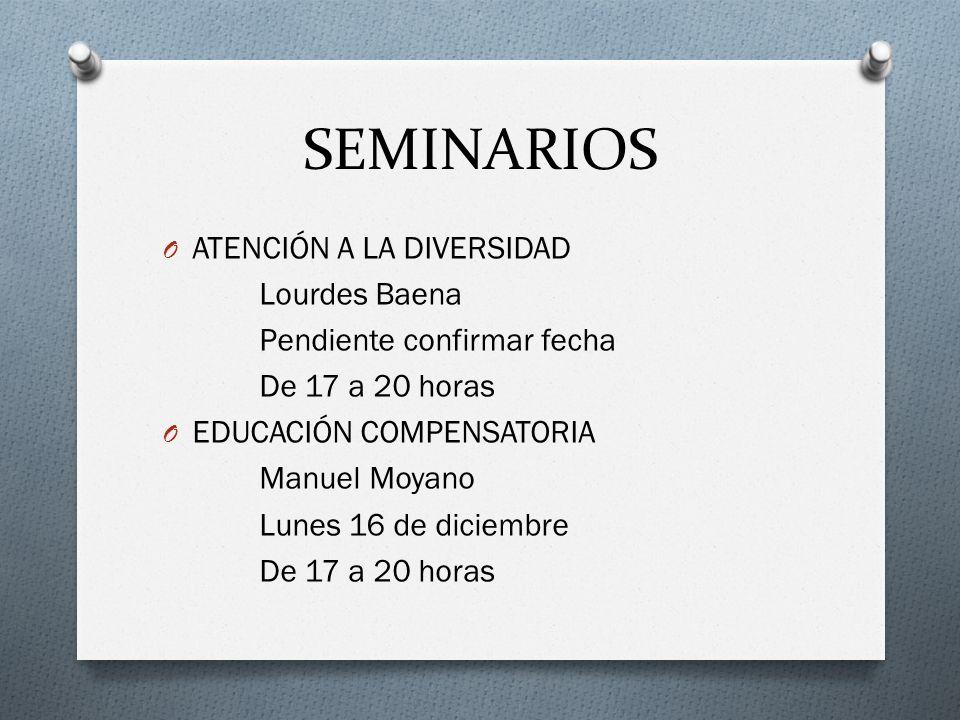 SEMINARIOS ATENCIÓN A LA DIVERSIDAD Lourdes Baena