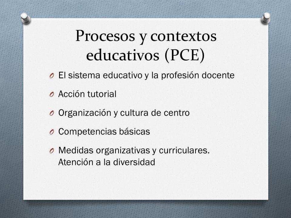 Procesos y contextos educativos (PCE)