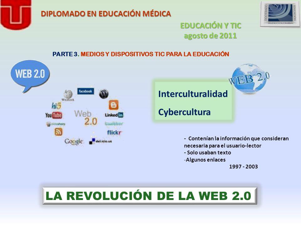 LA REVOLUCIÓN DE LA WEB 2.0 Interculturalidad Cybercultura