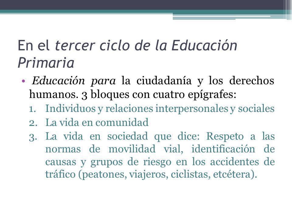 En el tercer ciclo de la Educación Primaria