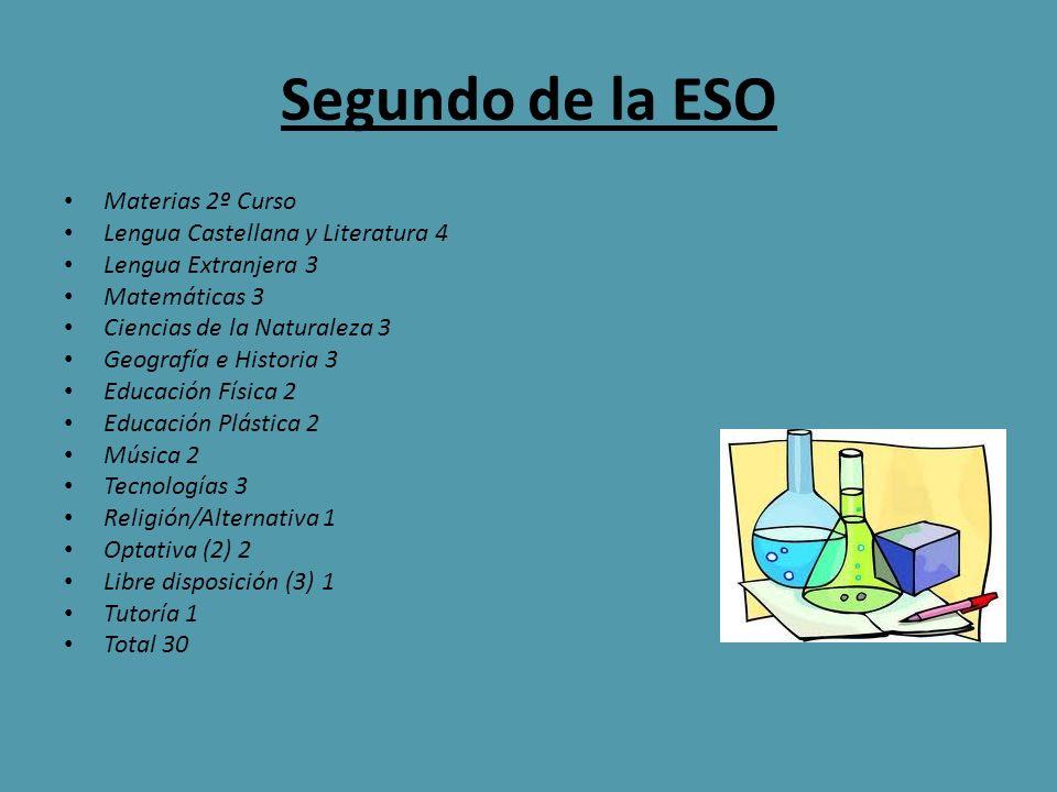 Segundo de la ESO Materias 2º Curso Lengua Castellana y Literatura 4