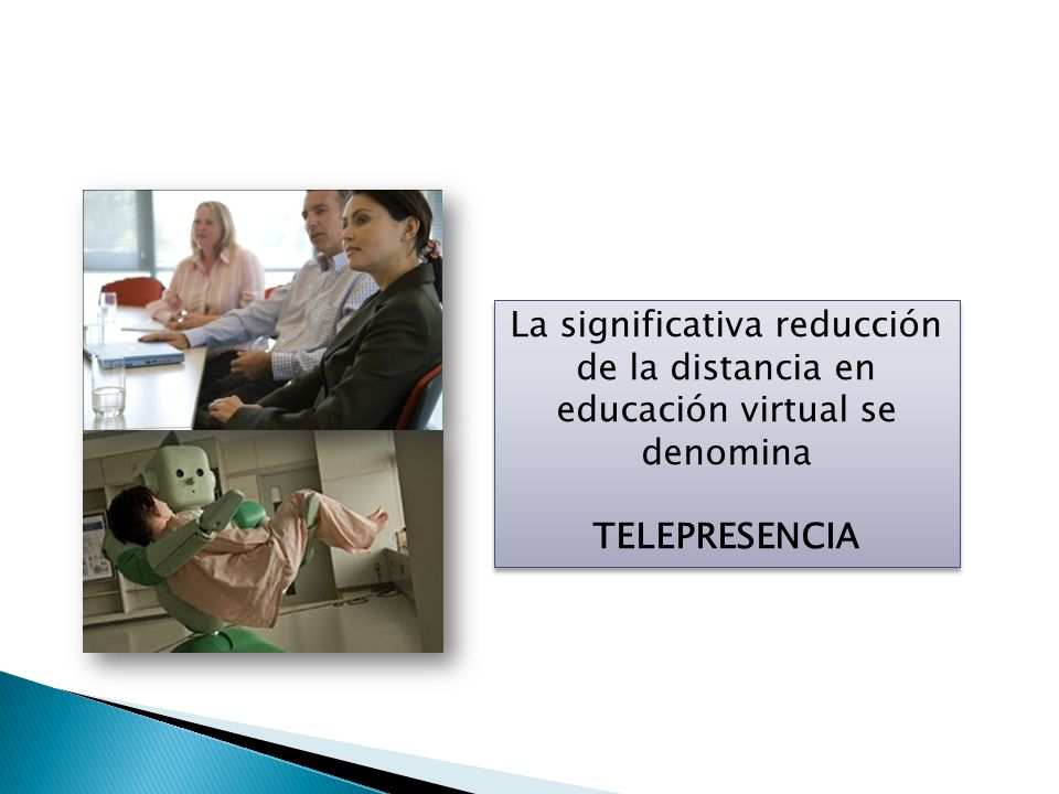La significativa reducción de la distancia en educación virtual se denomina