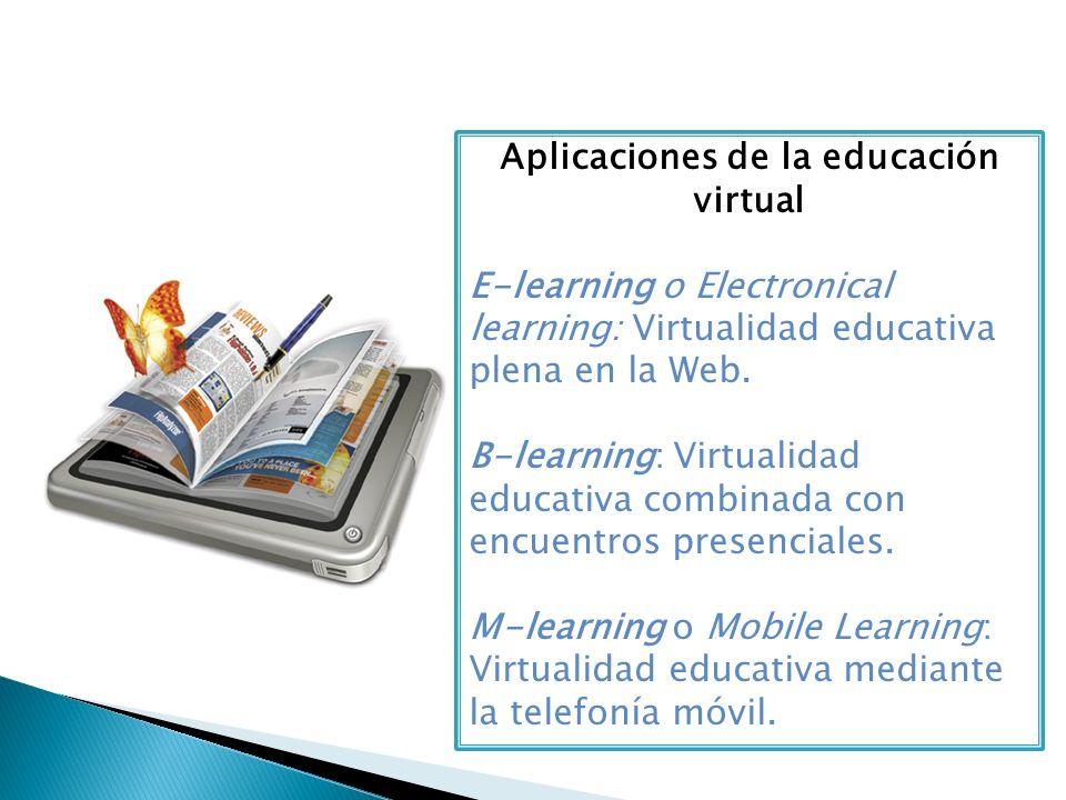 Aplicaciones de la educación virtual