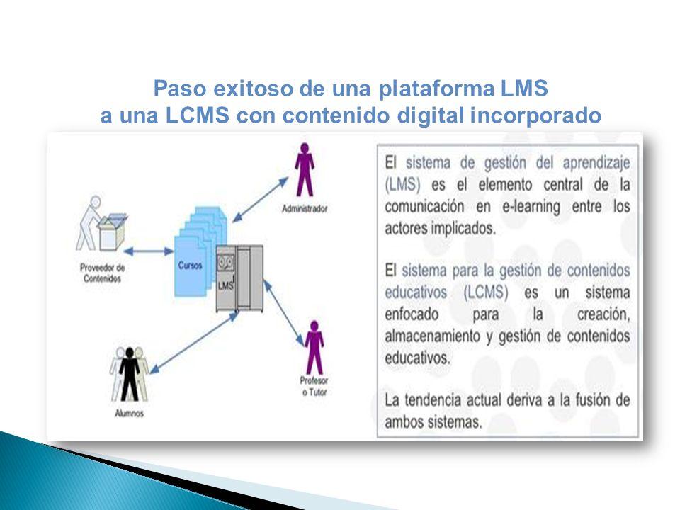 a una LCMS con contenido digital incorporado