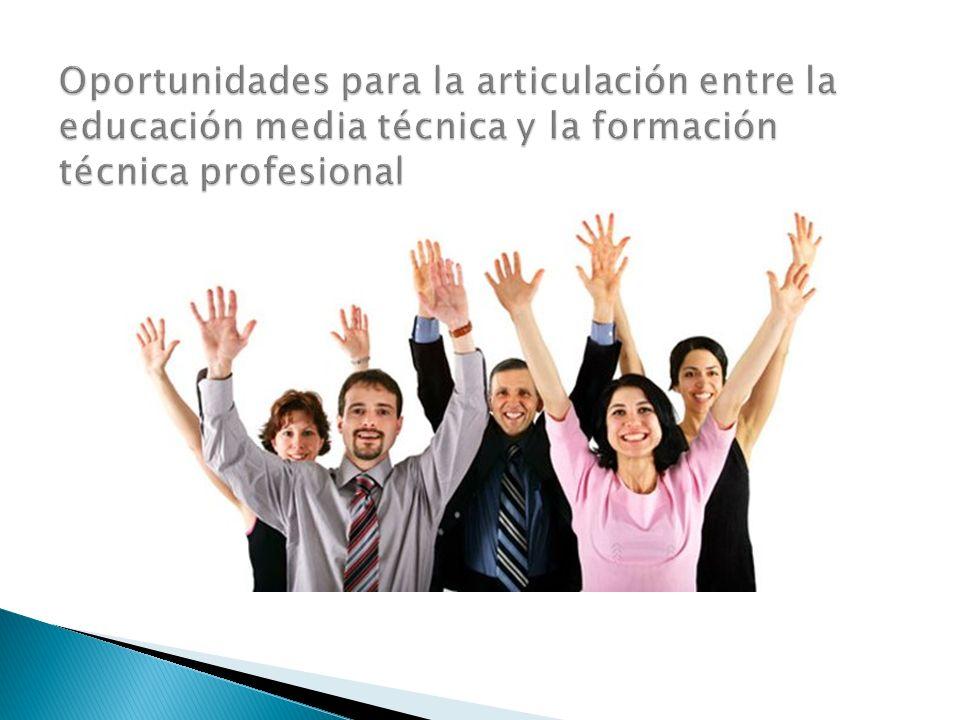 Oportunidades para la articulación entre la educación media técnica y la formación técnica profesional